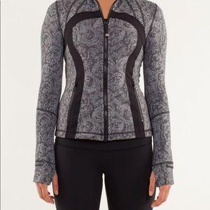 Black Lululemon Define Jacket Rose Herringbone